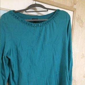 Talbots 1x beautiful turquoise long sleeve top